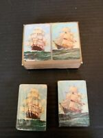 Vintage Sailing Ship Double Deck Miniature Playing Cards Sealed With Box