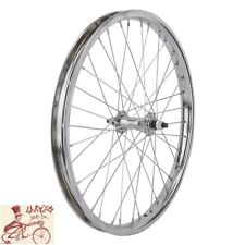 "WHEEL MASTER   20"" x 1.75""  STEEL CHROME BICYCLE FRONT WHEEL"