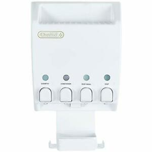 Better Living Products 75453 Ulti-Mate Dispenser 4-Chamber Shower Caddy White