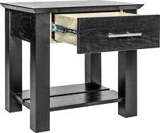 Hidden Compartment Nightstand- Diversion Safe- Rfid Lock- Black Paint on Oak T2