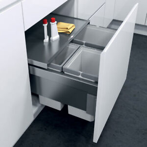 Vauth Sagel ENVI Space 500mm Pull Out 47L Recycling Kitchen Bin Soft Close