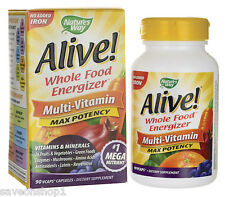 Alive Max Potency Multivitamins No Iron 90 veggie capsules | Nature's Way