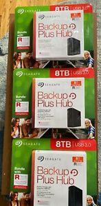 New-sealed Seagate Backup Plus Hub 8TB External HDD STEL8000100 pack of 3- 24TB
