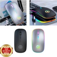 Ultra Thin Optical Led Wireless Mouse Gamer Mouse Rechargeabe + Usb 4 BUTTONS