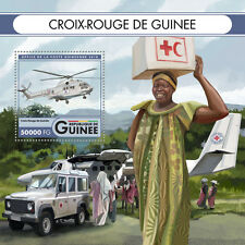 Guinea 2016 MNH Red Cross 4v M/S Helicopters Health Medical Stamps