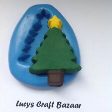 Silicone Mould Christmas Xmas Tree 1 Winter Sugarpaste Cupcake Topper Decorating