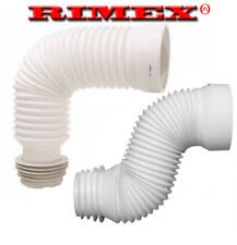 FLEXIBLE TOILET WC FLEXI PAN CONNECTOR SOIL PIPE 200MM-450MM