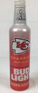 2020 Kansas City Chiefs Kingdom Bud Light Aluminum Super Bowl Collectible Bottle