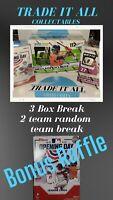 3 Box MLB Random 2 Team BK- Optic Donruss- Donrus- OpeningDay 2020 N Free RAFFLE