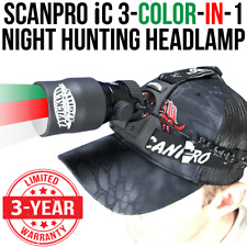 Wicked Lights ScanPro IC 3-Color-In-1 (Green, Red, White) Night Hunting Headlamp