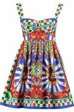 DOLCE & GABBANA Print doll dress UK10 IT42 nouveau