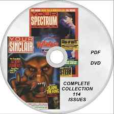 YOUR SPECTRUM & YOUR SINCLAIR magazine COMPLETE COLLECTION on DVD 114 issues!