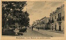Italy Manfredonia - Corso Manfredi old sepia postcard