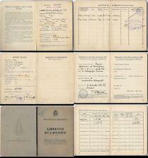 MINISTERO DELLE CORPORAZIONI-LIBRETTO DI LAVORO 1936 ;   LEGGE DEL 1935