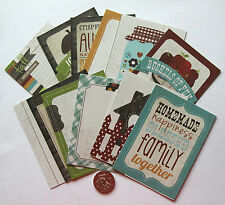 SCRAPBOOKING NO 138 - 12 LARGE DIE CUT DESIGNER COUNTRY THEMED CARDS