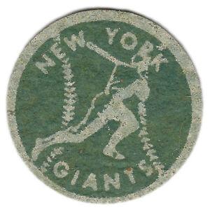 """1940'S/50'S NEW YORK GIANTS MLB BASEBALL VINTAGE 2"""" TEAM PATCH GREEN WHITE"""
