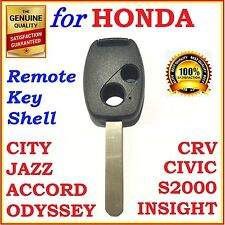 Fit Honda Accord/CRV/Civic/City/Jazz/Odyssey/S2000 2 Button Key Remote Shell 1x