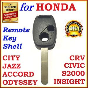 FOR HONDA ACCORD CRV CIVIC CITY JAZZ ODYSSEY S2000 REMOTE KEY SHELL TWO BUTTONS