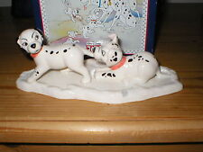 ROYAL DOULTON FIGURE 101 DALMATIANS  LUCKY AND FRECKLES ON ICE DM10 BOXED