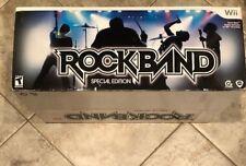 Rock Band -- Special Edition (Nintendo Wii, 2008) Bundle Game+Guitar+Drums
