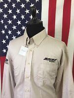 nwt BNSF Railroad Khaki Shirt mens XL Railway Burlington Northern Santa Fe 8137