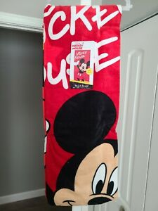 Disney Mickey Mouse Kids Beach Towel Cotton 28 x 58 Soft Swimming Pool Bath Gift