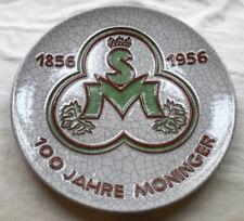 Großer seltener Wandteller 100 Jahre Moninger Bier 1856-1956 Karlsruher Majoika