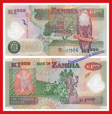 ZAMBIA 1000 Kwacha 2011 Polymer Pick 44h  SC / UNC