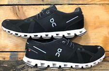 On Cloud Mens Cloud Black White Running Shoes Size 9.5 US 43 EU (982429)