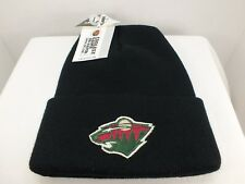 Minnesota Wild  Vintage NHL cuff Knit Beanie winter hat MADE IN USA New By 4.0