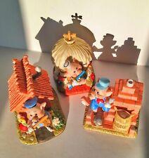 music box disney 3 little pigs complete set boite musical muziekdoos