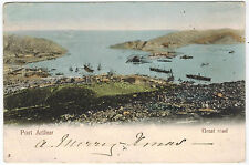 View of Port Arthur, Mandjuria, sent in 1904 from England to Italy