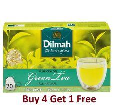 Dilmah Pure Ceylon Green Tea 20 Tea Bags 40g 1.41 Oz - Buy 4 Get 1 Free