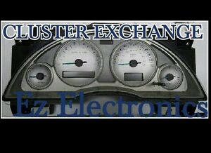 """2002 TO 2004 BUICK RENDEZVOUS INSTRUMENT CLUSTER  """"EXCHANGE"""" WITH LEDS, WITH DIC"""