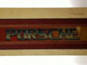 Vintage Iron On Heat T-Shirt Transfer: PORSCHE Automobile Sports Car Glitter