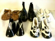 Vintage Lot of 5 Pair Doll Shoes.