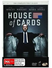 HOUSE OF CARDS (COMPLETE SEASON 1 - DVD SET SEALED + FREE POST)