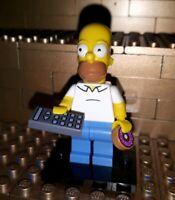 Lego Figur The Simpsons Serie 1 Homer Simpson mit Fernbedienung Donut Minifig