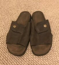 Timberland Smart Comfort System Brown Leather Sandal Slide Casual 11