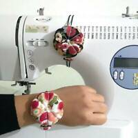 Pumpkin Needle Pin Cushion Holder Wrist Pincushion DIY Craft Sewing Supplies L7