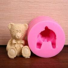 New 3D Teddy Bear Fondant Silicone Mold Sugar Craft Cake Decorating Tools Baking