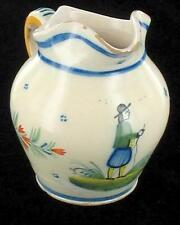 ANTIQUE HENRIOT QUIMPER FRENCH FAIENCE CREAMER BRETON 1880 to 1900 FRANCE