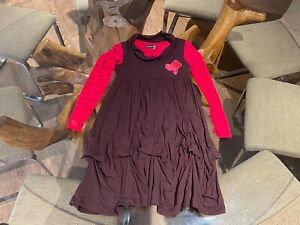 $132 AUTH JEAN BOUGET GIRLS CUTE FALL/WINTER FUN COMFY KNIT DRESS sz 8
