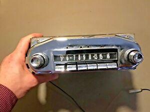 1957 1958 Mercury AM Push Button Radio Original Used part# 77BM Ford Knobs