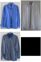 MEN'S NAME BRAND SHIRT LOT XL Long Sleeves EXPRESS TOMMY AEO Blue White EUC