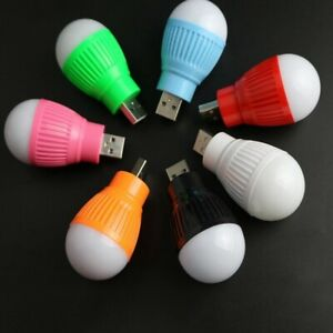 Mini Bombilla LED USB Tipo A Luz de noche Niños Lámpara Linterna Bajo Consumo