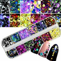 Chunky Glitter Round Dot Loose Sequins Confetti Face Eye Body Nail Art WT