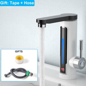 360° LED Elektrische Wasserhahn Sofort Heizung Durchlauferhitzer Küche Armatur