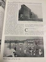 1910 City Plan Chicago Blackstone Hotel Dogs  Silversmith Fine Arts Journal