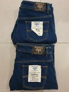 2x Euroa Denim Wool Womens Jeans Size 16 - NEW